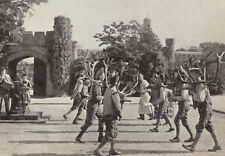 Abbots Bromley Horn Dancers at Blithfield Hall, 1948 photo view ready mounted