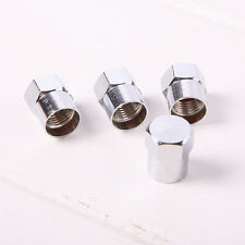 4Pcs Stainless Steel Valve Dust Caps Car Bike Bicycle Tube Tyre Valve Cap uutt
