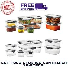 NEW Rubbermaid Brilliance Food Storage Containers With Airtight Lids, 18-Pieces