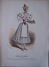 gravure ancienne mode couleur L'ART ET LA MODE XV N° 2 - Marie DE SOLAR
