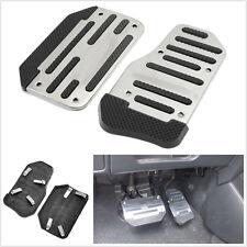 Nonslip 2 PCS Car Automatic Accelerator Clutch Brake Foot Pedal Treadle Silver