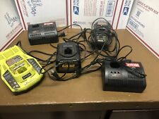 Lot of Ryobi and Dewalt battery Chargers