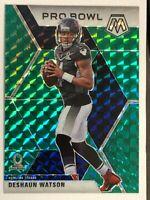 2020 Panini Mosaic NFL Deshaun Watson Green Prizm Refractor Pro Bowl Card #259