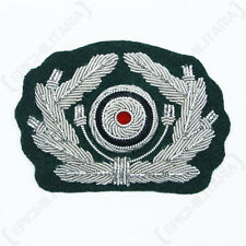 WW2 Repro German Army BULLION WREATH and COCKADE Visor Cap Insignia Dark Green