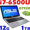 "ASUS X556U i7-6500U 12GB 1TB 15.6"" HD GeForce 920M 2GB Windows 10 Gaming Laptop"
