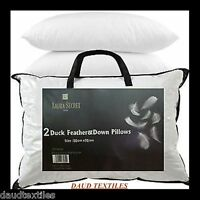 Luxury 100% Natural Duck Feather Pillows, Hotel Quality ,Pack Of 2,4 OR 6 PILLOW