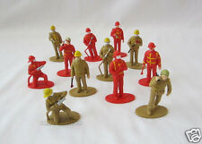 12 FIRE MAN FIGHTER FIGURES Party Goody Loot Bag Toy Favor Cake Topper Supply