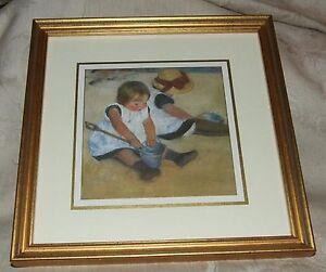 Mary Cassatt CHILDREN PLAYING ON THE BEACH Beautifully Gilt Framed Quality Print
