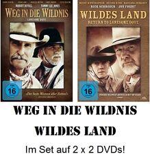 Weg in die Wildnis + Wildes Land (Lonesome Dove 1+2) auf 2 x 2 DVD NEU + OVP!