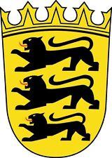 PREMIUM Aufkleber Wappen Baden Württemberg Auto Motorrad  Sticker Autoaufkleber