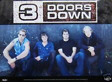 THREE DOORS DOWN POSTER, DOUBLE SIDED (T9)
