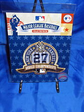 NEW YORK YANKEES 27 World Championship Logo MLB Embroidered Collector Patch NEW!
