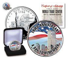 WORLD TRADE CENTER 9 /11 *-3 rd ANNIVERSARY COLORIZED Statehood Quarter-NEW ITEM