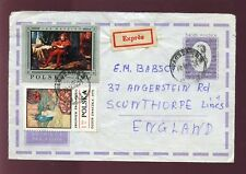 POLAND 1970 STATIONERY COVER UPRATED EXPRESS DELIVERY