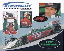 1997 Adrian Fernandez Quaker State Tecate SIGNED CART Hero Card
