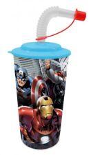 Marvel Avengers 3D Trinkbecher mit Strohhalm NEU