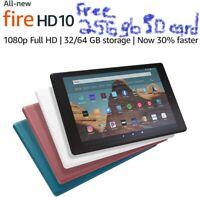 "NEW Amazon Fire HD 10.1"" Tablet 2019 9th Gen. w FREE 256gb SD Card Twilight Blue"