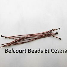 "100 Antique Copper 2"" Headpins 22 GA Lead Free Nickel Free"