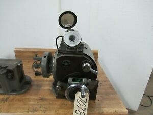 """FT Griswold 12"""" Optical Dividing Head & Tailstock  (CTAM #7078)"""