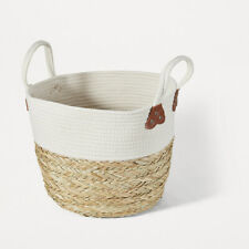 Rope and Straw Basket Handles Freshly Dried Clothes Cotton & Straw Large R1..