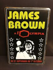 JAMES BROWN OLYMPIA CONCERT POSTER  GARAGE WALL DECOR LARGE METAL SIGN 30X40 Cm