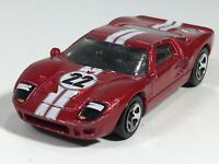 Hot Wheels 2007 Ford GT-40 Dark Red #22 HW All Stars Series Malaysia Loose #2