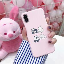 For Apple iPhone 8 6 7 Plus X Cute Slim Bear Panda Pattern Phone Case Hard Cover