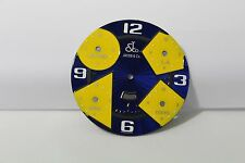 JACOB & CO 47MM BLUE W. YELLOW TIME ZONE ENAMELED 5 TIME ZONE DIAL