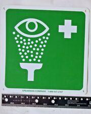 8 x 8.5 inch Eye Wash Plastic Signage Hazard Safety Label Decal Placard