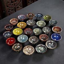 Tasse à thé en céramique chinoise Chine moderne très colorée bol artisanal peint