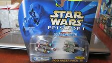 NEW GALOOB STAR WARS MICRO MACHINES EPISODE I POD RACINER PACK III - POD RACING
