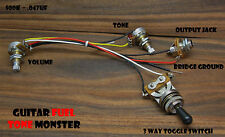 TONE MONSTER Guitar Wiring Harness 3W/1V/1T/J  3 Way Toggle Switch Volume Tone