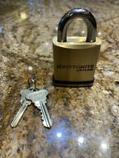 Schlage Padlock  KS43A2300 Key N Knob Brass Body with two (2) keys - NEW