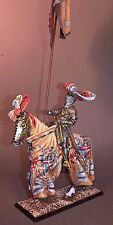 Russian Miniatures Amber Mounted Knight w/Double Banner 54 mm