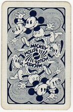 Playing Cards 1bSingle Card Old Vintage DISNEY Named MICKEY MOUSE Minnie + Goofy