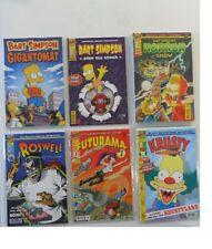 15x Bart Simpson / Horror Show / Futurama Comics Sammlung eingetütet & geboardet