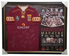 Queensland Maroons Signed 2016 NRL Success Signed Official Team Jersey Framed