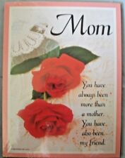 Mother, You Have Always Been More Than A Mother, Wall Plaque, Sealed, Brand New!
