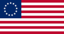 "Betsy Ross Flag Bumper Vinyl Sticker Decal 3""x5"" Revolution 13 Stars United"