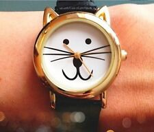 Really Cute CAT FACE Designer WRIST WATCH Animal Hello Kitty Pet Pussy UK Seller