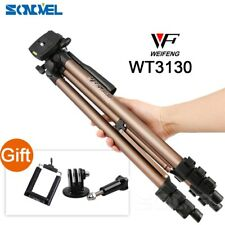 WT3130 Protable Camera Tripod Stand with Rocker Arm for Canon Nikon Sony Cameras