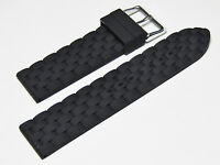 20mm Hadley Roma MS3325 Black Genuine Selicone Strap Watch Band