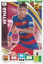 047 NEYMAR BRAZIL FC.BARCELONA CARD ADRENALYN LIGA 2016 PANINI