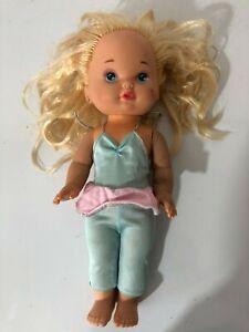 "Vintage 1988 Mattel Lil Miss Makeup Blonde Baby Doll Heart Cheek 13"""