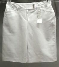 NWT Charter Club Women's Bright White Solid Modern Fit Shorts Sz: 4