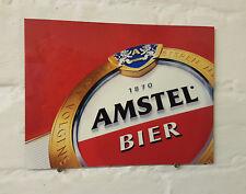 Signo de Aluminio Metal Amstel más Grande Retro Vintage Bar Pub Cueva de hombre cerveza signos den