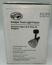 Hampton Bay Linear Track Head Adjustable 50-Watt Halogen Plug-in Art Glass Shade