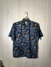 SPIDER-MAN MENS MEDIUM BUTTON FRONT SHIRT SHORT SLEEVE GRAPHIC