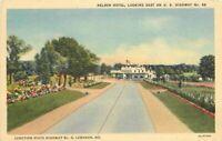 Lebanon Missouri Nelson Hotel Highway 66 roadside Postcard Teich linen 10278
