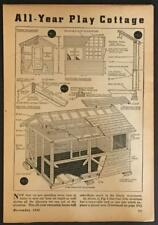 Year Round Cottage 8x10 PLAYHOUSE 1942 How-To build PLANS Greenhouse